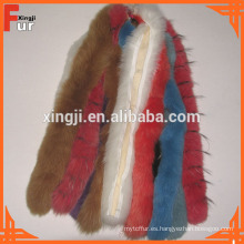 Capucha 100% Real Fox Fur Trim Hood