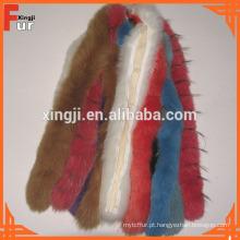 100% Real Fox Fur Trim Hood