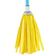 Китай производитель весь комплект желтая круглая полоса мокрая швабра
