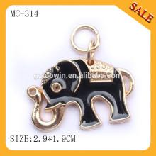 MC314 Gold printing logo design metal hang tag and label