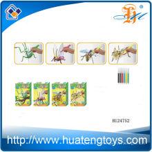 2014 Оптовая Помет художник образовательные игрушки окраску, насекомых 3D-головоломка DIY игрушка для детей H124752