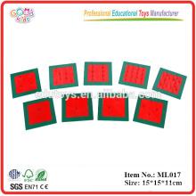 Materiales Montessori Juguetes educativos promocionales Cuadrados de metal