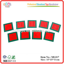 Montessori Materials Promotional Educational Toys Metal Squares