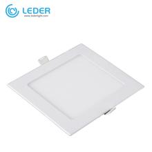 Panel de luz LED de techo cuadrado de 18W LEDER