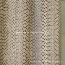 Tissu à rideaux en fil torréfié en polyester 2016