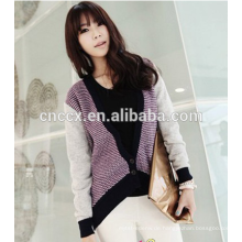 Kontrastfarbe Wollpullover Designs für Damen