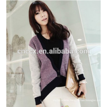 contrast color woolen sweater designs for ladies