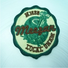 Custom fashion design embroidery patches with iron on