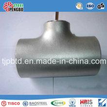 T sanitaire réducteur de l'acier inoxydable Ss304 avec l'extrémité de soudure