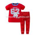 Niños New Style Sleepwear Camisas y pantalones de algodón Establece Kids Boy Pajamas