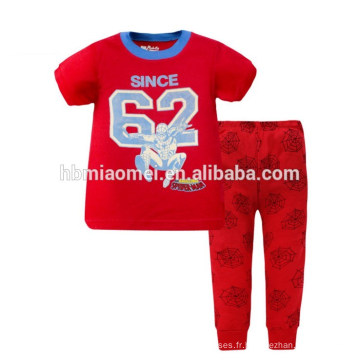 Enfants New Style vêtements de nuit coton chemises et pantalons ensembles enfants garçon pyjamas
