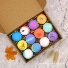 12PCS Bubble Bath Bomb Gift Box OEM / ODM Fizzy Bubble Bath Bombs