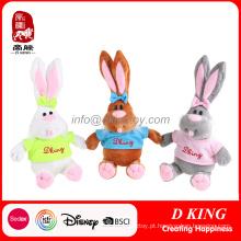 Brinquedo macio do coelho do luxuoso do coelho do brinquedo para o brinquedo de Easter enchido