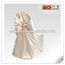 Hot Selling Polyester Satin Fabric Cheap Wholesale Half Back Chair Covers