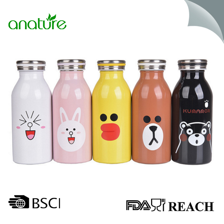 Double Wall Vacuum Insulated Milk Bottle For Girls