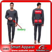Men Winter Thermal Underwear Set With Electric Heated System Battery Heated Clothing Warm OUBOHK