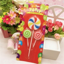 Eco Friendly Lollipop Shaped Birthday Candle