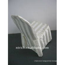 polyester chair cover with stripe,CT500 ivory/beige/cream color,banquet chair cover,250GSM best quality