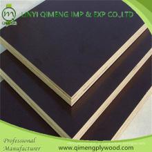 Professionnel exportant le contreplaqué tourné par film de couleur noire de la construction 15mm