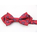 Cravate d'arc d'individu de tissu de coton de haute qualité, cravate d'arc formel multicouche d'auto-cravate