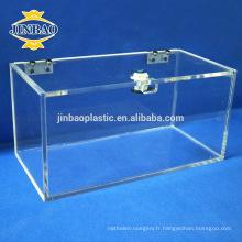 Jinbao Clear Case Display Plexiglass Sneaker Acrylique Boîte à chaussures