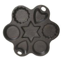 Molde para pasteles de formas múltiples de hierro fundido - Diámetro de 8 pulgadas