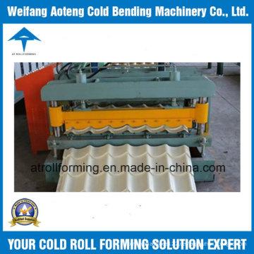 Farbige glasierte gewölbte Roofing Blatt-Rolle, die Maschine bildet