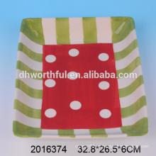 2016 nuevos platos de cerámica platos cuadrados en alta calidad
