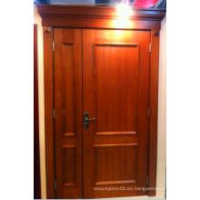 Puerta de madera sólida de alta calidad de la haya con la cabeza de la puerta