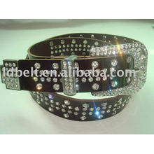 Genuine leather Belt fashion crystal belt