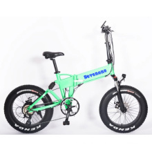Wholesale Full Suspension 48V 500W Foldable Electric Bicycle with Hidden Battery