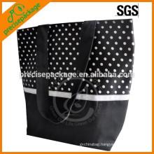 High quality cotton fashion beach bag with dot