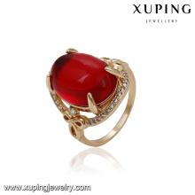 14565 xuping ювелирные изделия 18k золото покрытием моды новый дизайн золотой палец кольцо для женщин