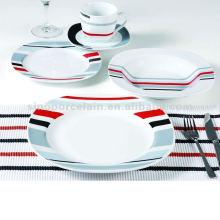 Ensemble de vaisselle en porcelaine à rayures colorées 20PCS pour BS120920A