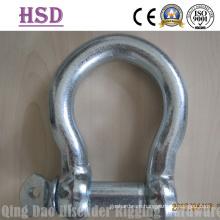 JIS Bow Type Shackle, E. Galvanized, European Bow Type Shackle, E. Galvanized
