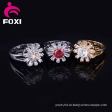 Proveedor de la fábrica de China Joyas de moda Anillos de compromiso de oro