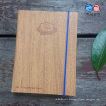 China Stationery Factory Supply Notebook PU avec bande élastique (XL-64K-PG-01)