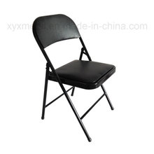 Metal Frame Leather Folding Chair