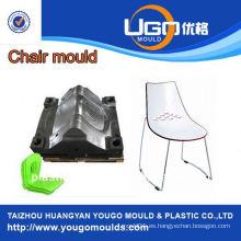 Fábrica plástica del molde del hogar para el nuevo diseño PC pluma clara del molde de la silla en taizhou China