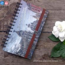 Suporte de escritório Hard Cover Spiral School Alinhado Grade 40k Notebook
