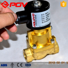 electric brass thread connection steam solenoid valve