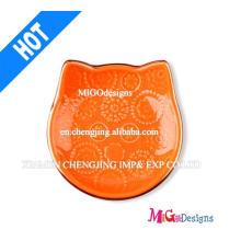 OEM regalo de promoción de cerámica gato forma anillo plato