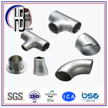 Butt Weld Stainless / Carbon Steel Tee Equal / Reducing ASTM avec grande réduction