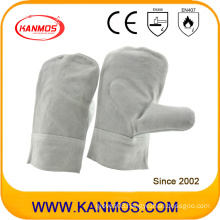 Cowhide Leather Mittens Industrial Safety Welding Work Gloves (11128)