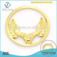 Необычный дизайн ювелирных украшений из орлиного орла с золотым сплавом 22 м для медальона из плавающей платины