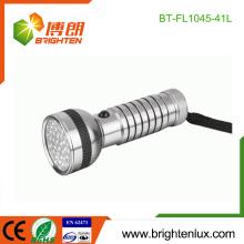 Vente en vrac en usine 4 * AAA Batterie à commande manuelle Bonne qualité Lumineux 41 lampes led led en aluminium fabriquées en Chine