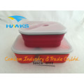 Foldable Silicone Lunch Box Cooker Food Container