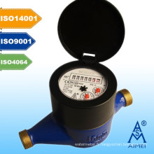 MILIEU homologuée volumétrique à Piston Type compteur d'eau en laiton