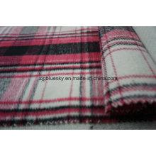 Tecido de lã para revestimento com xadrez