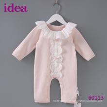 60113 100% algodão Romper do bebê para o laço das meninas